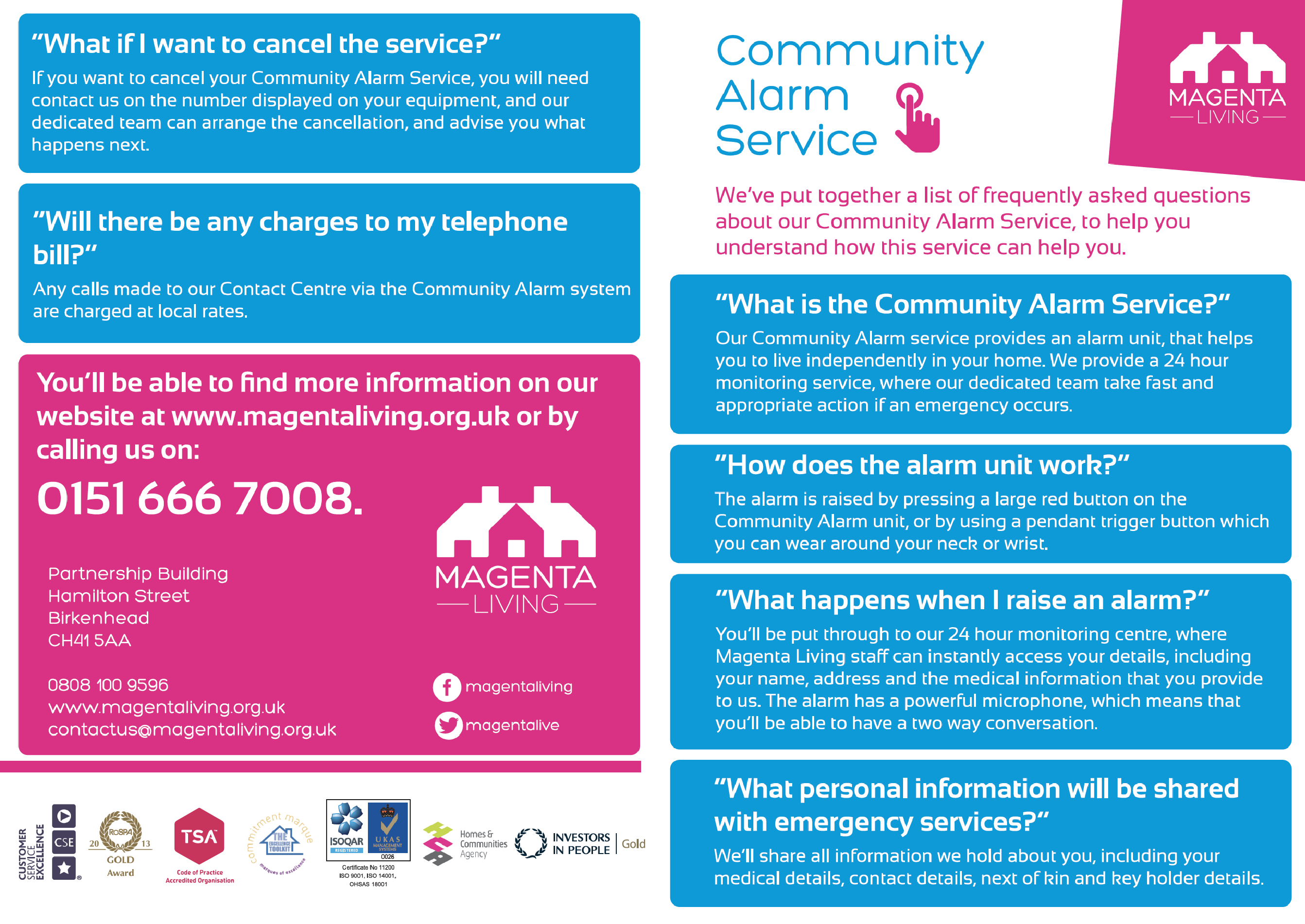 Community Alarm Services - FAQ 1