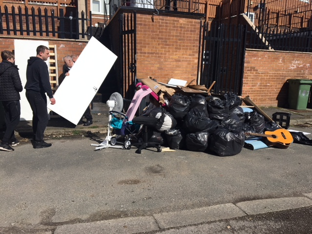 Overchurch spring clean - royden road shops