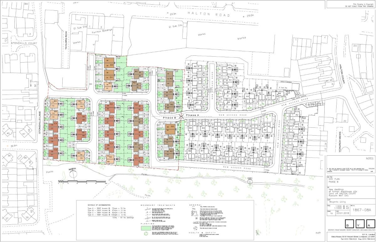 Halton Court - Site Map