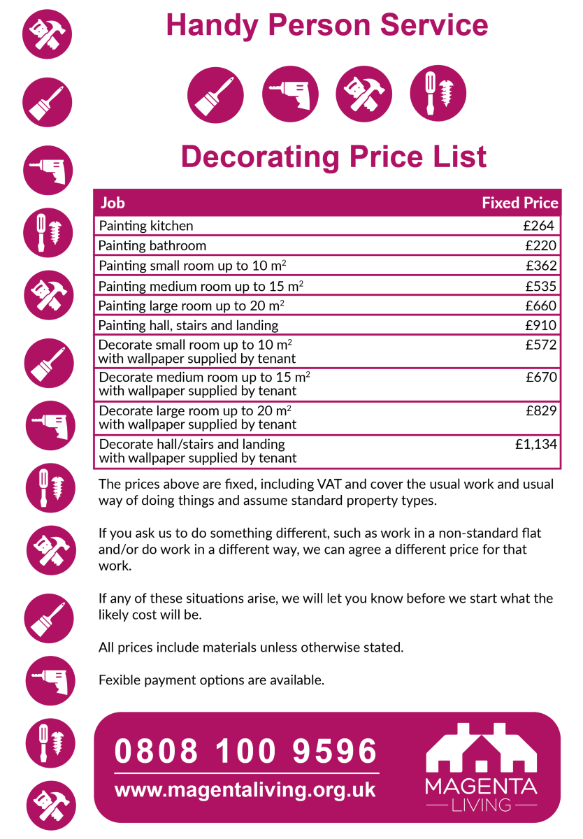 Decorating Price List