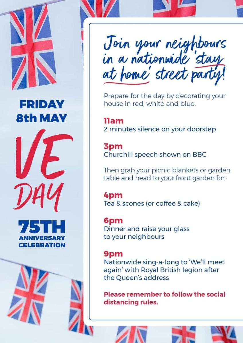 VE Day Stay at Home Party Guide