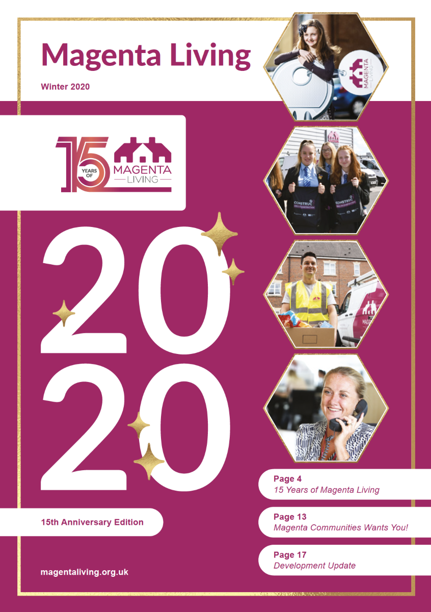 Click this image to download Magenta Living Winter 2020 Newsletter - Image of the front cover